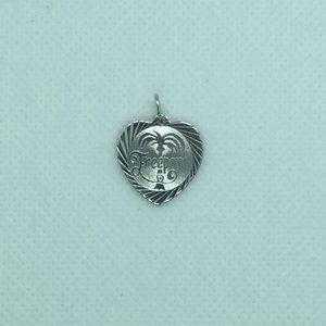 💛 Sterling Silver Freeport FL Heart Charm